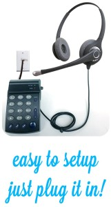 Just plug in our headset telephones and get talking!